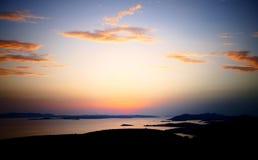 Nuages au-dessus des îles Photo libre de droits