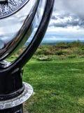 Nuages au-dessus des montagnes de Pocono avec une vue photos libres de droits
