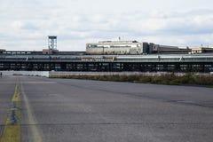 Nuages au-dessus du Tempelhof Photos libres de droits