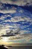 Nuages au lever de soleil Photo stock