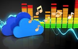 nuages audio du spectre 3d Images stock