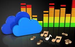 nuages audio du spectre 3d Photos stock