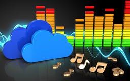 nuages audio du spectre 3d Photo libre de droits