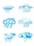 Nuages avec la pluie illustration libre de droits
