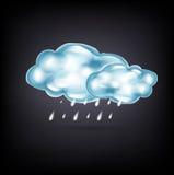 Nuages avec la pluie sur l'obscurité Photos libres de droits