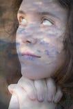 Nuages avec le visage Images libres de droits