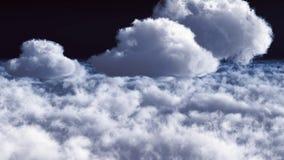 Nuages blancs dans le rendu du ciel bleu 3d Photo stock