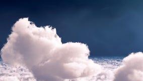 Nuages blancs dans le rendu du ciel bleu 3d Images stock