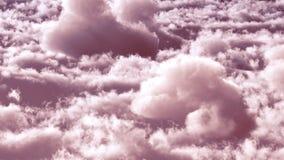 Nuages blancs dans le rendu du ciel bleu 3d Photos libres de droits