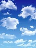 Nuages blancs sur le ciel bleu Photos libres de droits