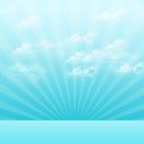 nuages blancs sur le ciel bleu Images stock