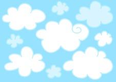 Nuages bleu-clair Photographie stock