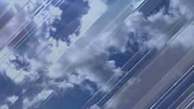 Nuages bleus de longueur de fond et lignes en verre illustration libre de droits