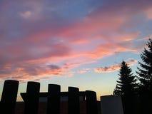 nuages colorés Photographie stock libre de droits