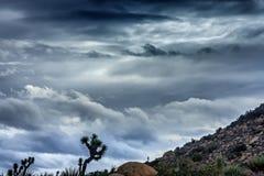 Nuages contrastants à l'altitude Image stock