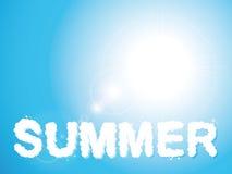 Nuages d'été Image stock
