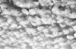 Nuages d'Altocumulus Photo stock