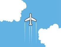 Nuages d'avion illustration de vecteur