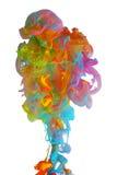 Nuages d'encre colorée lumineuse photos stock