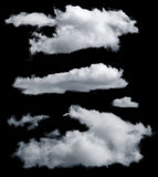 Nuages d'isolement Photographie stock