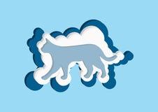 nuages 3D sous forme de  de Ñ à Dirigez la couleur bleue et blanche de nuage d'icônes sur un fond bleu Photos libres de droits