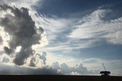 nuages dans l'aube Photographie stock