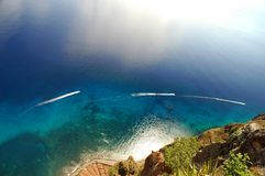 Nuages dans l'océan Image libre de droits