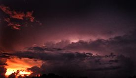 Nuages de ciel Photos libres de droits