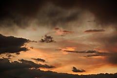 Nuages de ciel de coucher du soleil Photo libre de droits