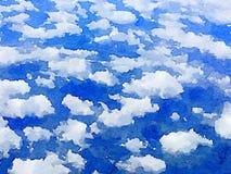Nuages de ciel de DW Photographie stock libre de droits
