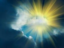 Nuages de ciel de Sun Image libre de droits