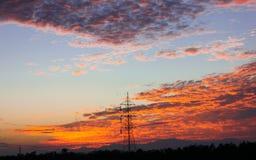 Nuages de coucher du soleil photos libres de droits