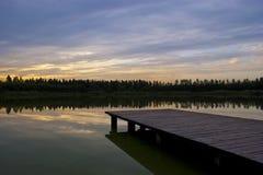 Nuages de coucher du soleil Image libre de droits