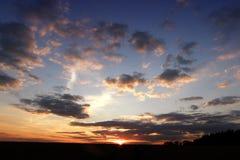 Nuages de coucher du soleil Photographie stock libre de droits