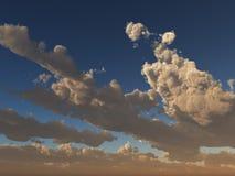 Nuages de coucher du soleil avec des étoiles Photos stock