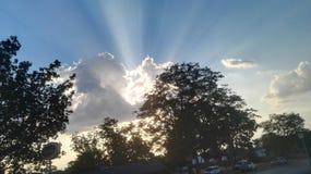 Nuages de coucher du soleil de Barberton photo stock