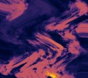 Nuages de couleur en pastel dispersés sur le fond Papier peint coloré Illustration abstraite de courses de brosse de style illustration stock
