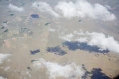 Nuages de désert photographie stock libre de droits