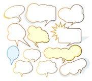 nuages de dessin animé Images libres de droits