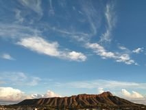 Nuages de Diamond Head Photographie stock libre de droits