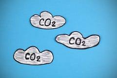 Nuages de dioxyde de carbone Images libres de droits