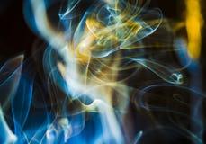 Nuages de fumée scéniques Photographie stock libre de droits
