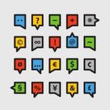 Nuages de la parole de couleur Image libre de droits