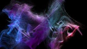 Nuages de la poussière varicolored dans l'obscurité, illustration 3d Image libre de droits