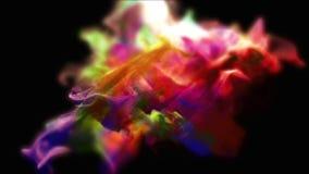 Nuages de la poussière varicolored dans l'obscurité, illustration 3d Images stock