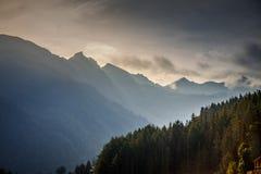 Nuages de la Suisse Photo libre de droits