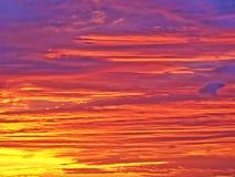 Nuages de lever de soleil Images stock