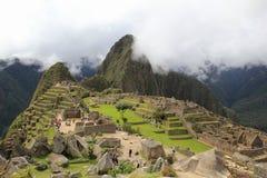 Nuages de Machu Picchu image stock