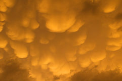 Nuages de Mammatus au-dessus du Montana central photos libres de droits