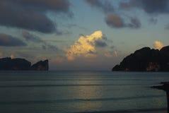 Nuages de mer du sud Photo libre de droits